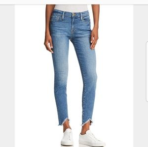Triangle Hem Jeans